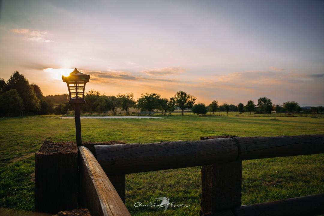 Coucher de soleil du Domaine
